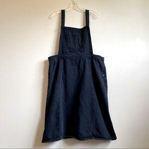 Blue Overall Denim Dress 100% Cotton - Size 22